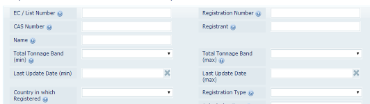 REACH registration Number Search