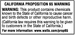 California Proposition 65 Warning label