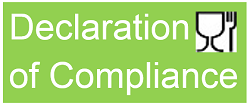 Declaration of Compliance (DOC) for Food Contact Materials