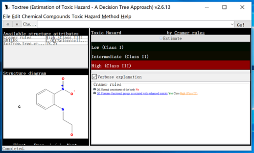 Toxtree Result